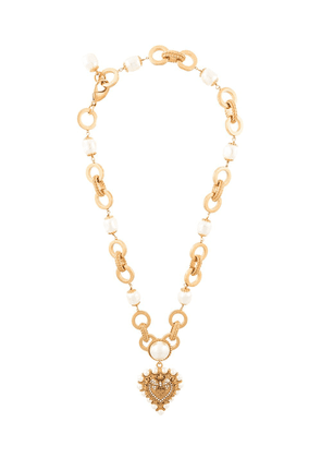Dolce & Gabbana DG heart plaque necklace - GOLD