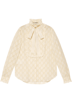 Gucci GG broderie anglaise shirt - White