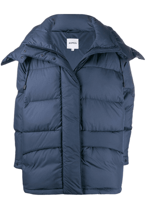 Aspesi hooded padded jacket - Blue