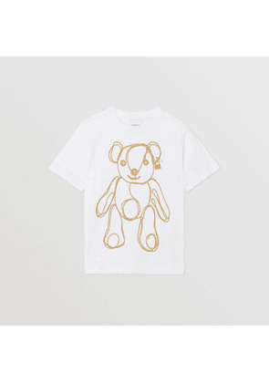 Burberry Childrens Chain Print Cotton T-shirt, White
