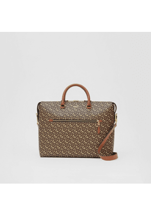 Burberry Monogram E-canvas Briefcase, Brown