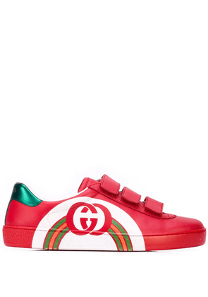 Gucci rainbow sneakers - Red