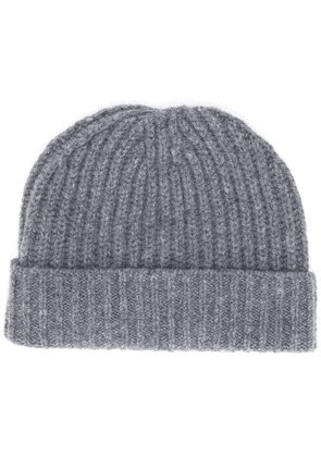 Danielapi ribbed knit beanie hat - Grey