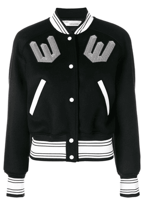 Off-White patch bomber jacket - Black