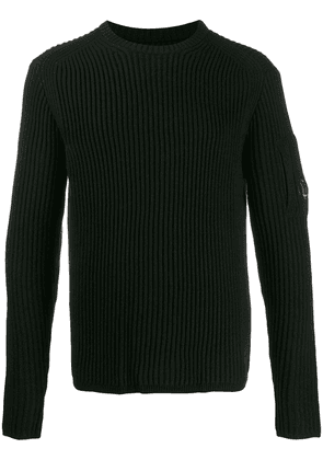 CP Company ribbed lens detail jumper - Black