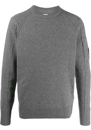 CP Company long-sleeve fitted sweater - Grey