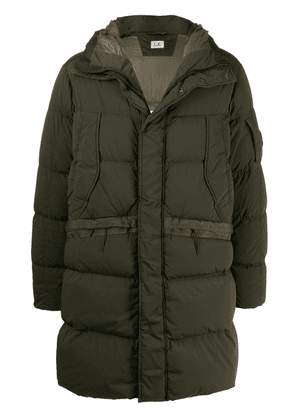 CP Company hooded quilted coat - Green