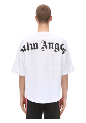 Logo Print Over Cotton Jersey T-shirt