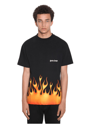 Firestarter Print Cotton Jersey T-shirt