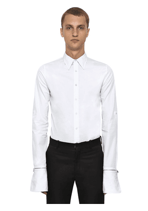 Organic Cotton Shirt W/ Zip Cuffs