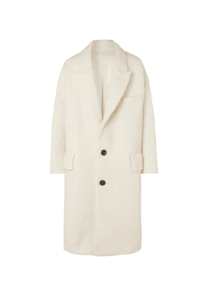 AMI - Oversized Textured Wool-blend Coat - White