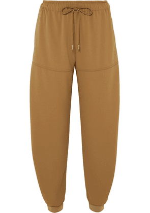 Chloé - Satin-jersey Tapered Track Pants - Beige