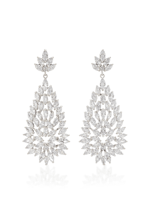 FALLON Lauren Burst Rhodium-Plated Crystal Earrings