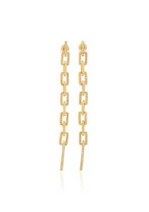 FALLON Gold-Tone And Crystal Earrings