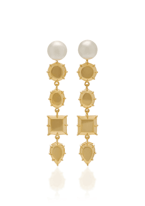 FALLON Rock Club Gold-Tone And Faux Pearl Earrings