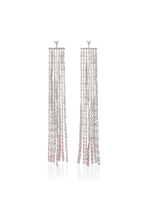 FALLON Silver-Tone And Crystal Earrings