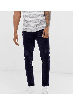 ASOS DESIGN Tall slim trousers in navy cord
