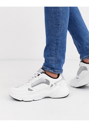 ASOS DESIGN trainers in mesh with chunky sole-White