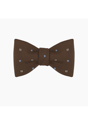 Brown Notes Silk Bow Tie