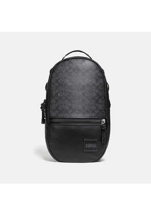 Coach Pacer Backpack In Signature Canvas With Patch