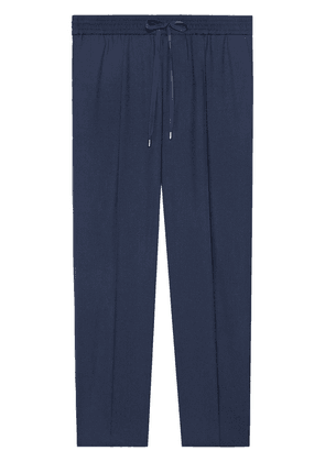 Gucci Tailored wool jogging trousers - Blue