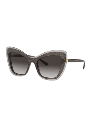 Acetate Cat-Eye Gradient Sunglasses