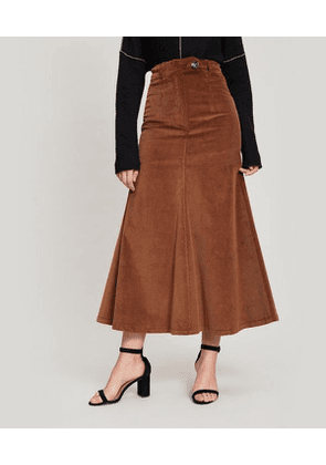 Back-To-Front Corduroy Skirt