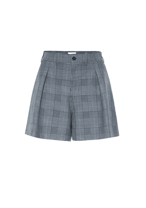 Checked high-rise shorts