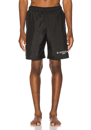 Givenchy Flat Classic Swim Bermuda Short in Black - Black. Size L (also in M,S).