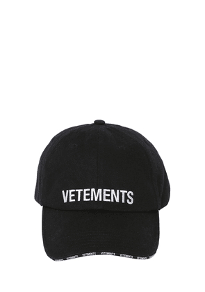 Logo Embroidered Distressed Baseball Cap