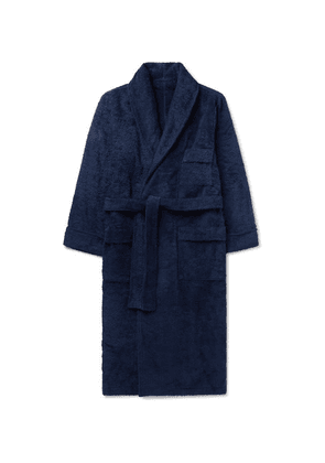 Anderson & Sheppard - Cotton-terry Robe - Navy