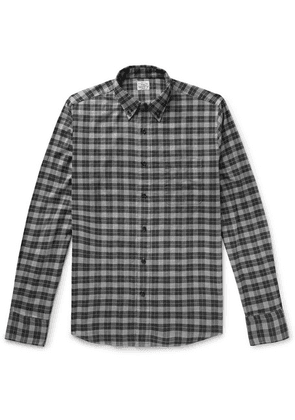 Faherty - Everyday Button-down Collar Checked Stretch-cotton Shirt - Charcoal