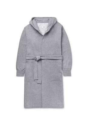 Reigning Champ - Fleece-back Cotton-blend Jersey Hooded Robe - Gray