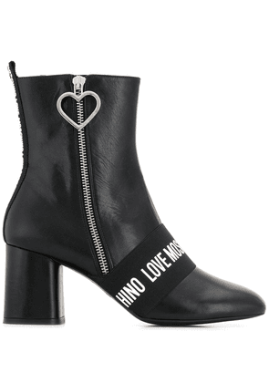 Love Moschino logo band boots - Black