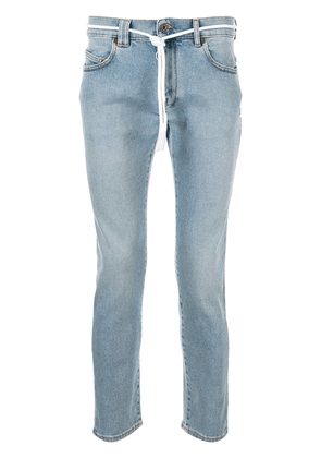 Off-White shoe lace skinny jeans - Blue