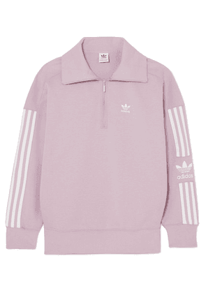 adidas Originals - Striped Cotton-blend Jersey Sweatshirt - Lilac