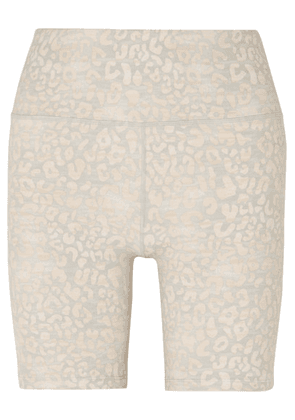 Varley - Louise Leopard-print Stretch Shorts - Silver