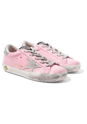 Golden Goose Kids - Size 28 - 35 Superstar Distressed Cracked Patent-leather And Suede Sneakers