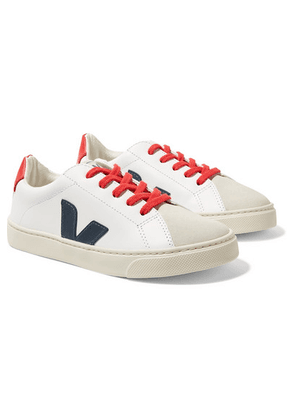 Veja Kids - Size 32 - 35 Esplar Leather And Suede Sneakers