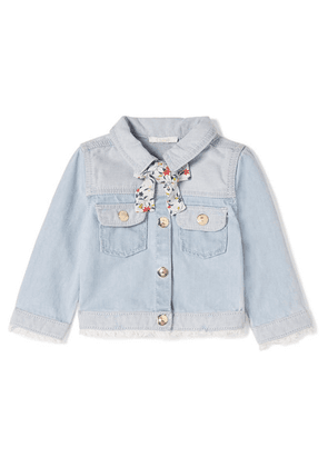 Chloé Kids - Months 6 - 18 Tie-detailed Denim Jacket