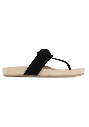 Loeffler Randall - Adriana Bow-detailed Suede Sandals - Black