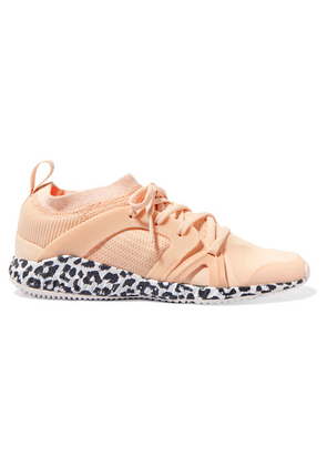 adidas by Stella McCartney - Crazytrain Pro Mesh And Stretch-knit Sneakers - Neutral