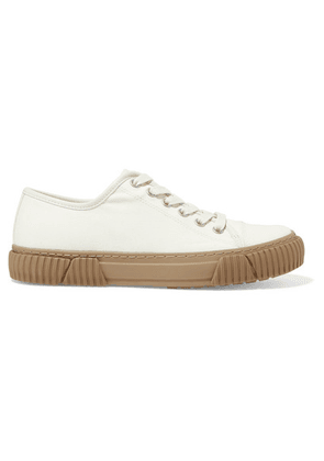both - Coated-canvas Sneakers - White