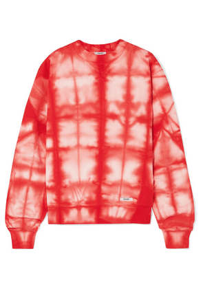 BLOUSE - Cicciolina Tie-dye Cotton-jersey Sweatshirt - Red