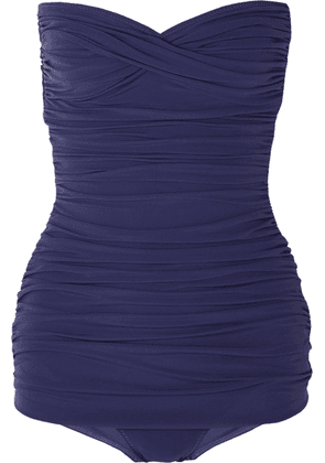 Norma Kamali - Walter Mio Ruched Swimsuit - Midnight blue