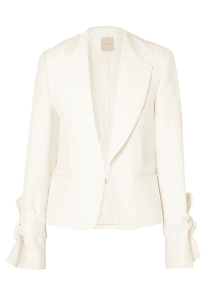 Roksanda - Bow-detailed Cady Jacket - Ivory