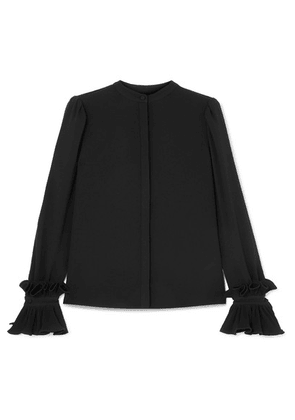 Co - Ruffled Crepe Blouse - Black