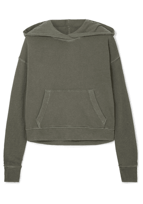 James Perse - Cropped Cotton-jersey Hoodie - Green