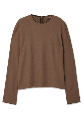 Albus Lumen - Traveller Cotton-blend Terry Top - Brown