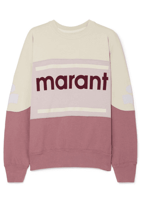 Isabel Marant Étoile - Gallian Flocked Cotton-blend Jersey Sweatshirt - Merlot
